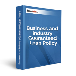 Business and Industry Guaranteed Loan Policy