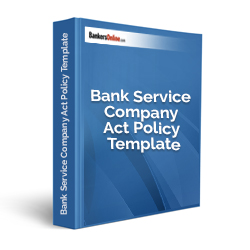 Bank Service Company Act Policy Template