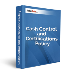 Cash Control and Certifications Policy