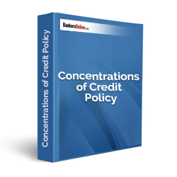 Concentrations of Credit Policy