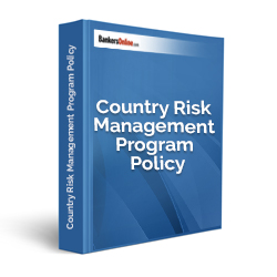 Country Risk Management Program Policy