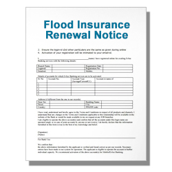 Flood Insurance Renewal Notice