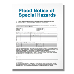 Flood Notice of Special Hazards
