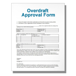 Overdraft Approval Form