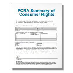 FCRA Summary of Consumer Rights