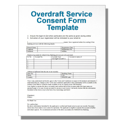 Overdraft Service Consent Form Template
