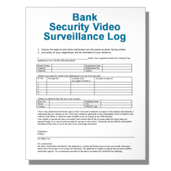 Bank Security Video Surveillance Log