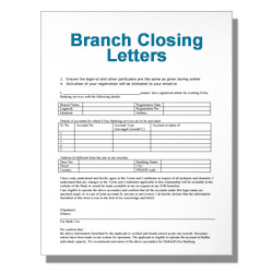 Branch Closing Letters - Click Image to Close