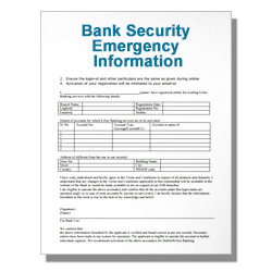 Bank Security Emergency Information