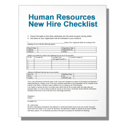 Human Resources New Hire Checklist
