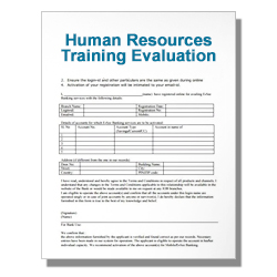 Human Resources Training Evaluation