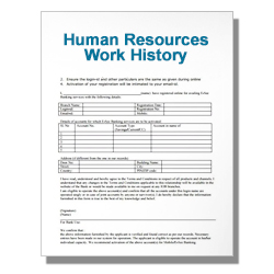 Human Resources Work History