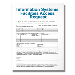 Information Systems Facilities Access Request