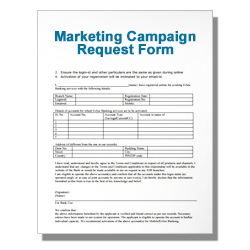 Marketing Campaign Request Form