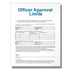 Officer Approval Limits
