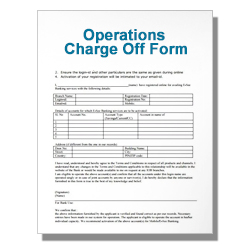 Operations Charge Off Form