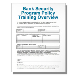 Bank Security Program Policy Training Overview