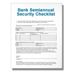 Bank Semiannual Security Checklist