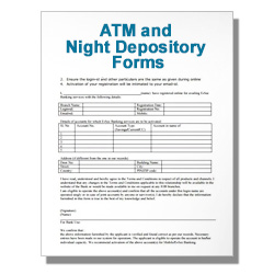 ATM and Night Depository Forms