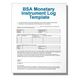 BSA Checklist for Funds Transfers