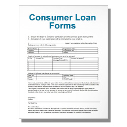 Consumer Loan Forms