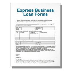Express Business Loan Forms