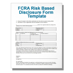 FCRA Risk Based Disclosure Form Template