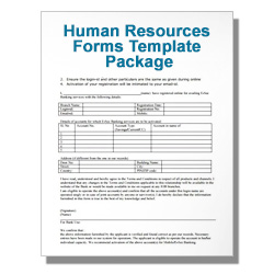 *Human Resources Forms Template Package