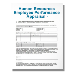 Human Resources Employee Performance Appraisal - Exempt
