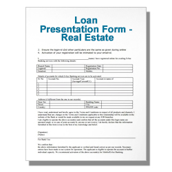 Loan Presentation Form - Real Estate