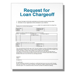 Request for Loan Chargeoff