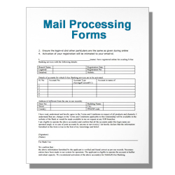 Mail Processing Forms