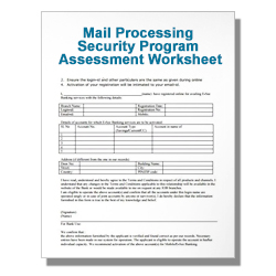 Mail Processing Security Program Assessment Worksheet