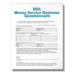 BSA Money Service Business Questionnaire