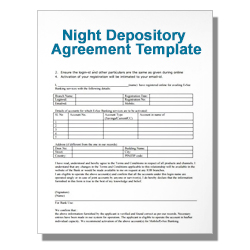 Night Depository Agreement Template