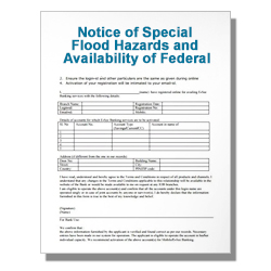 Notice of Special Flood Hazards and Availability of Federal Disa