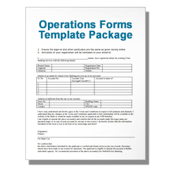 *Operations Forms Template Package