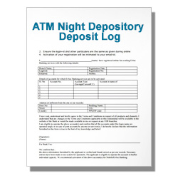 ATM Night Depository Deposit Log