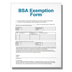 BSA Exemption Form