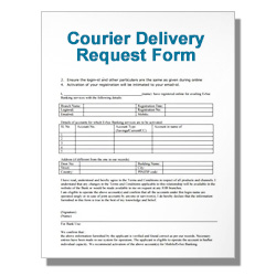 Courier Delivery Request Form