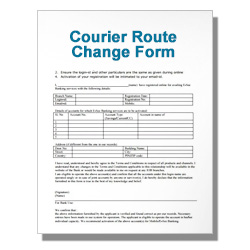 Courier Route Change Form