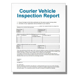 Courier Vehicle Inspection Report