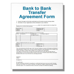 Bank to Bank Transfer Agreement Form