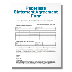 Paperless Statement Agreement Form