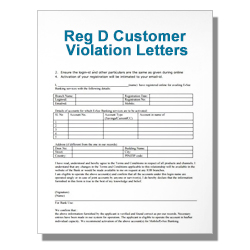 Reg D Customer Violation Letters