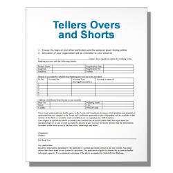 Tellers Overs and Shorts