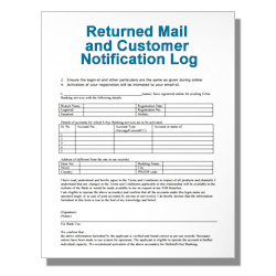 Returned Mail and Customer Notification Log
