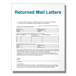 Returned Mail Letters
