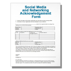 Social Media and Networking Acknowledgement Form Template