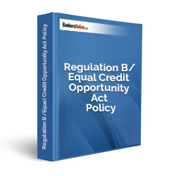 Regulation B/Equal Credit Opportunity Act Policy